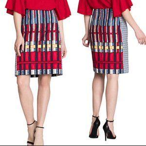 Nic+Zoe Geometric Stripe Pencil Skirt 12